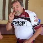 DSC_0850 Ken testing his medal.
